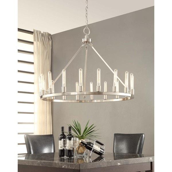 Nickel Dining Room Chandeliers: Ana Brushed Nickel 18-light Chandelier