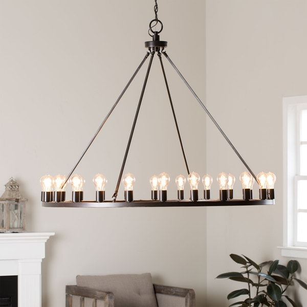 Liam Oil Rubbed Bronze 24 Light Chandelier 16100945