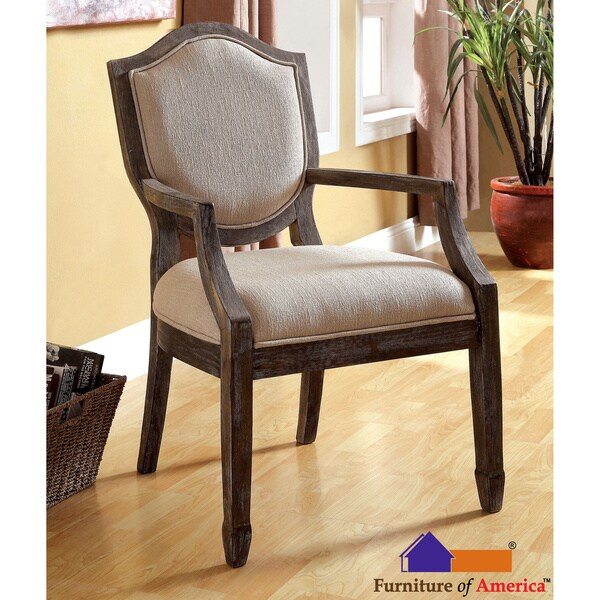 Awe Inspiring Furniture Of America Alfie Reclaimed Grey Taupe Fabric Gmtry Best Dining Table And Chair Ideas Images Gmtryco