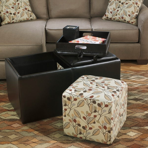 Gusti Dusk Living Room Set Signature Design: Signature Design By Ashley Danley Brown Storage Ottoman