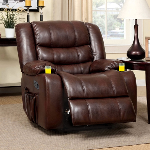 Furniture Of America Plushore Bonded Leather Match