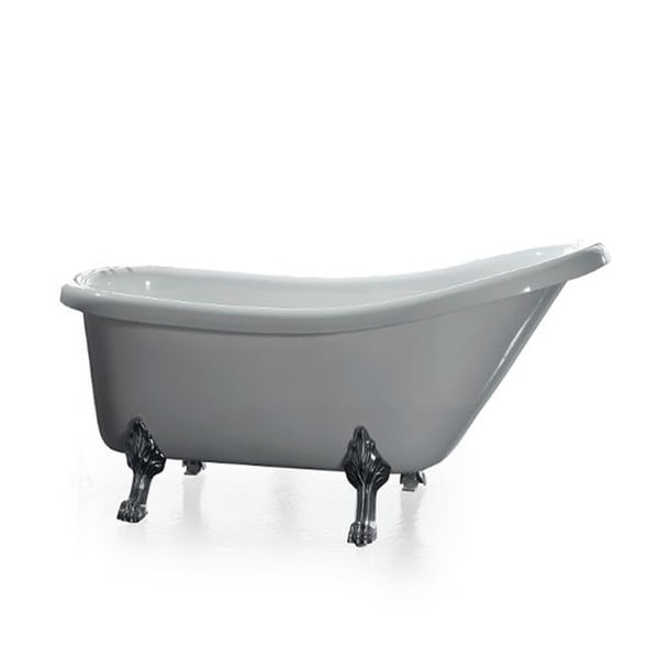 Ove Decors Classic 66 Inch Clawfoot Tub With Faucet