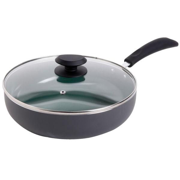 Gibson Home Eco Friendly 3 5 Quart Green Ceramic Saute Pan
