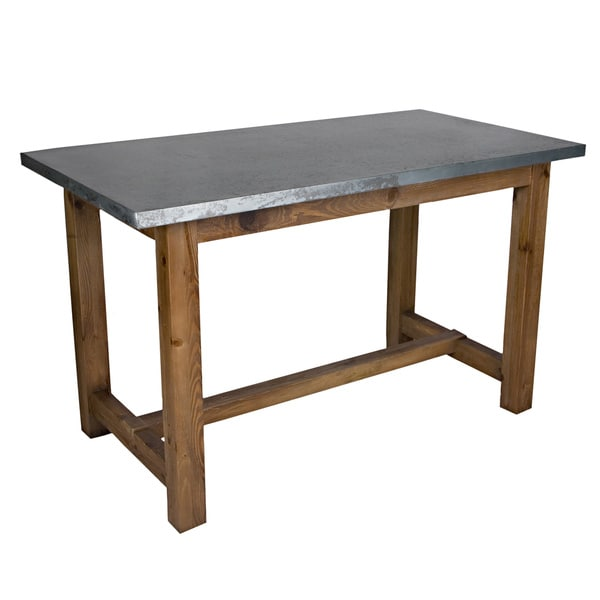 Deals On Dining Tables: Portfolio Beaubien Zinc And Wood Dining/Gathering Table