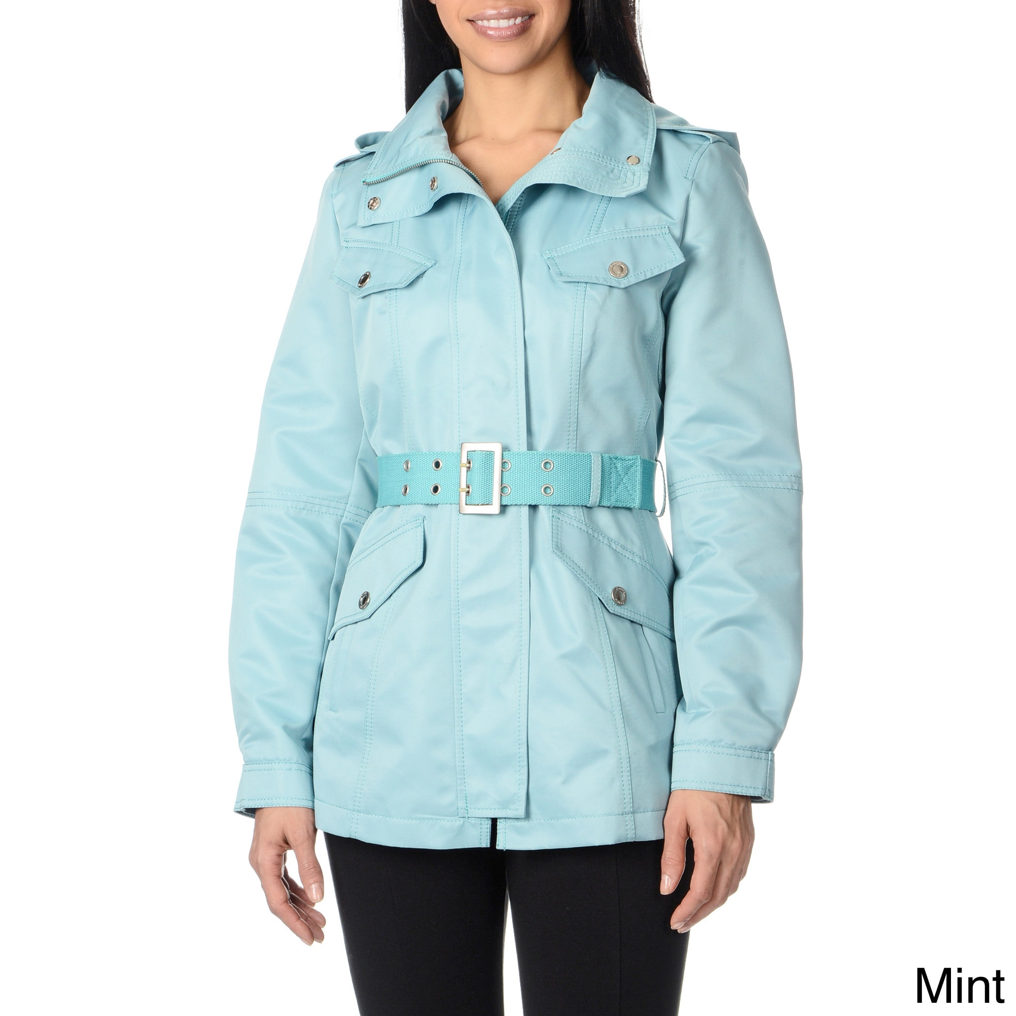f4dfb7eed2f Kensie Kensie Womens Webb Belted Jacket Blue Size XS (2 3) on PopScreen