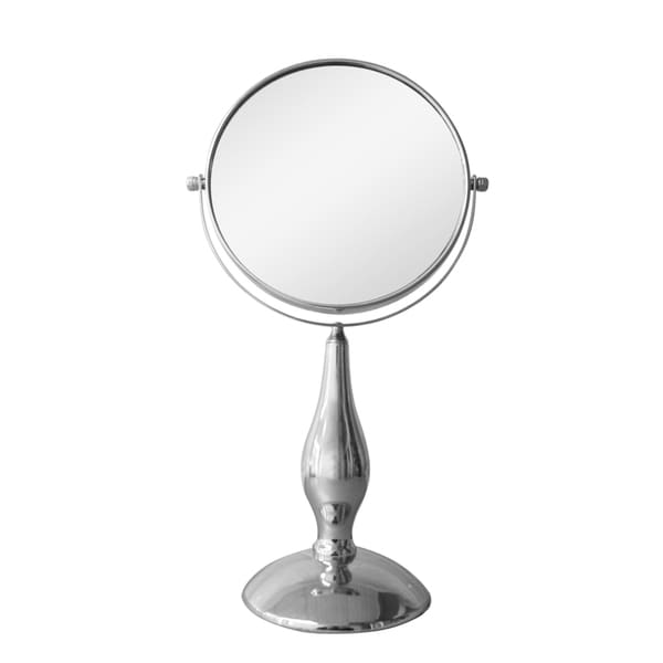 Free Standing 5x Chrome Magnifying Makeup Mirror By
