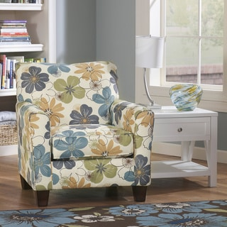 Enjoyable Sale Signature Design By Ashley Kylee Spa Blue Floral Ncnpc Chair Design For Home Ncnpcorg