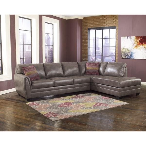 Ashley Furniture Offers: Signature Design By Ashley Sarai DuraBlend Grey Sofa