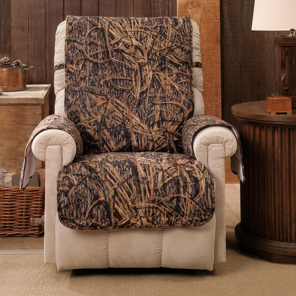 Mossy Oak Shadow Grass Recliner Wing Chair Furniture