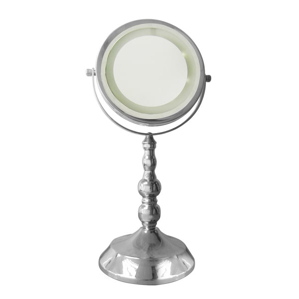 Free Standing 3x Magnifying Lighted Makeup Mirror