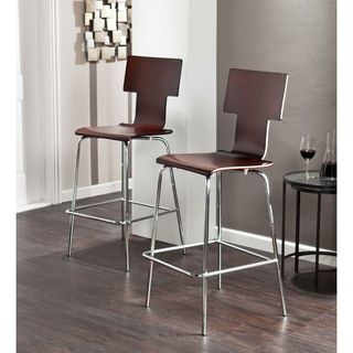 Holly Amp Martin Blence Espresso Barstools Set Of 2