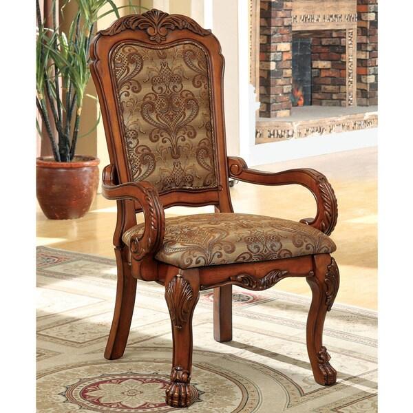 Furniture Of America Elantia Antique Oak Arm Chairs (Set