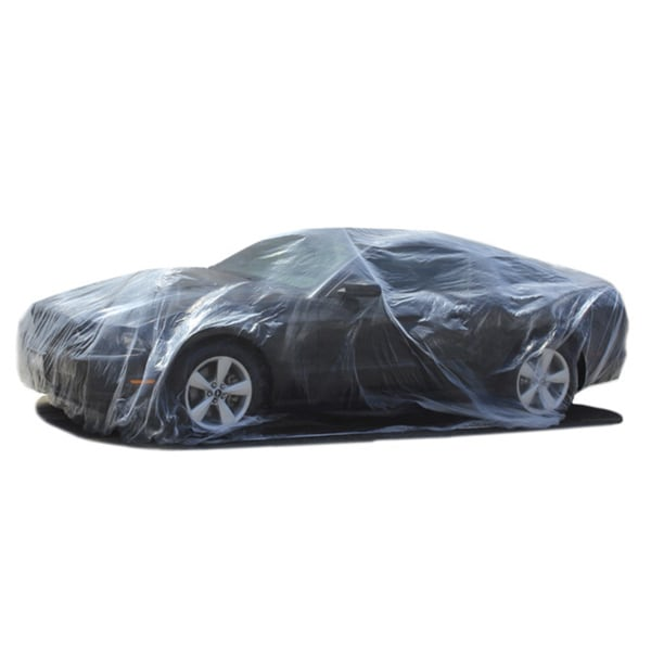 Oxgord Disposable Plastic Auto Cover Temporary Paint