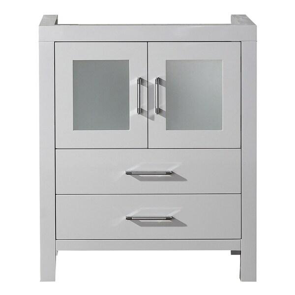 Virtu Usa Dior 28 Inch White Single Sink Cabinet Only
