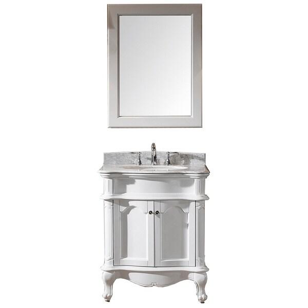 Virtu usa norhaven 30 inch single sink white vanity with - 30 inch white bathroom vanity with sink ...