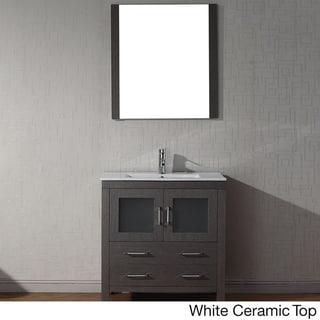 Virtu Usa Dior 32 Inch Single Sink Vanity Set In Zebra