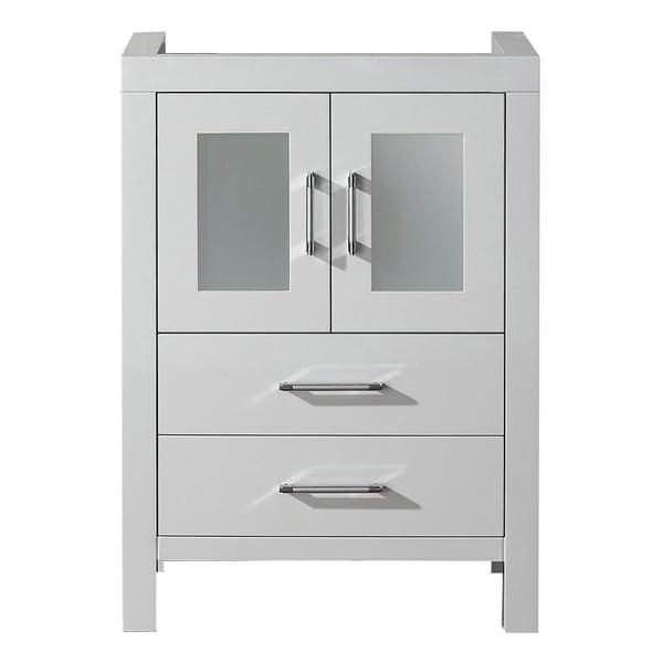 Virtu USA Dior 24-inch White Single Sink Cabinet Only ...
