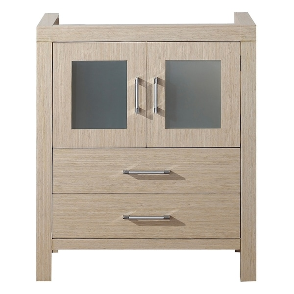 28 Inch Bathroom Vanity With Sink: Virtu USA Dior 28-inch Light Oak Single Sink Cabinet Only