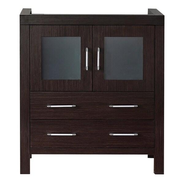 Virtu usa dior 30 inch espresso single sink cabinet only - 30 inch single sink bathroom vanity ...