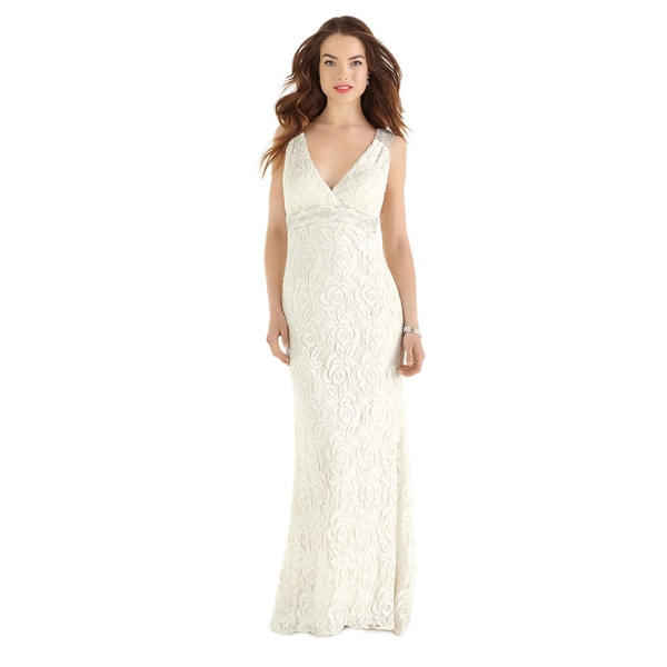 Dessy After Six Bridal Women's Full-length Guipure Lace