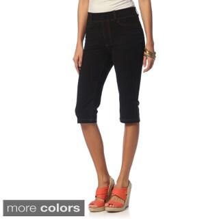 La Cera Women's Missy Tri-blend Knee-length Shorts
