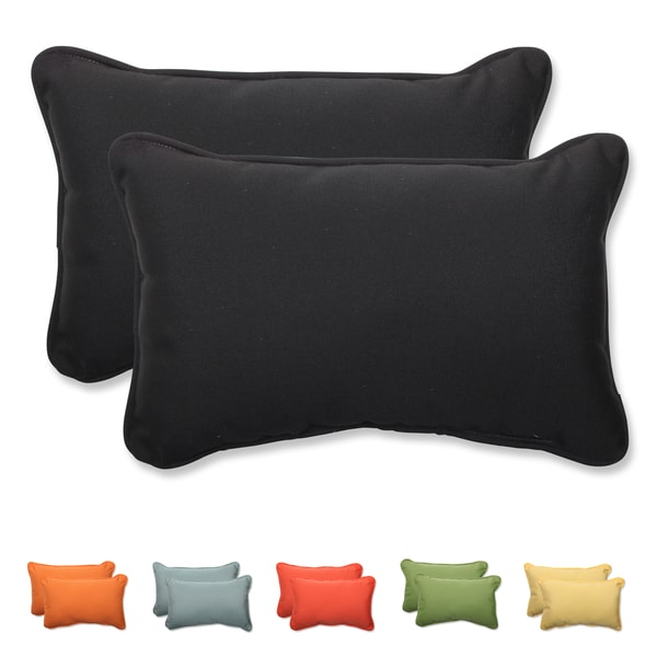 Pillow perfect solid rectangular throw pillow with - Fabric for throw pillows ...