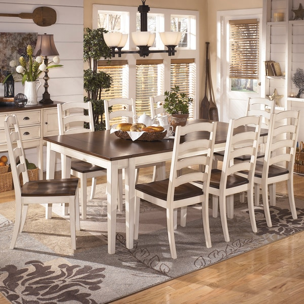White And Brown Dining Table: Signature Design By Ashley 'Whitesburg' White And Brown