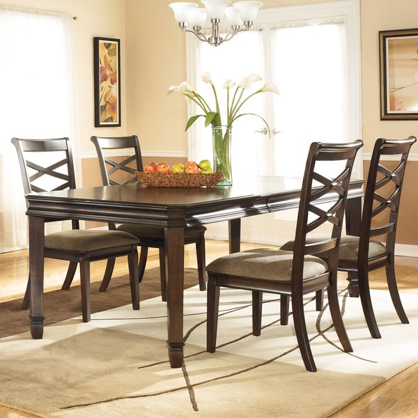 Dining Room Table Extension: Signature Design By Ashley 'Hayley' Dark Brown Dining Room