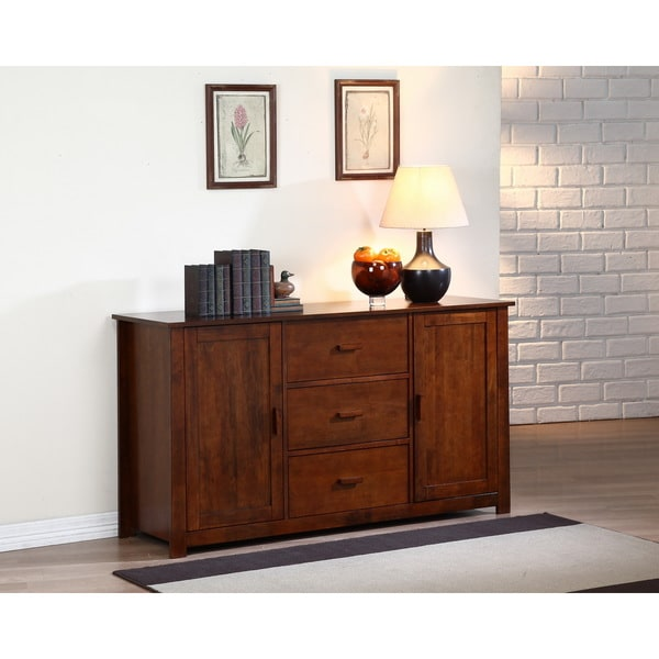 Dining Room Buffet Cabinet: Dallas Walnut Buffet Storage Furniture Cabinet Sideboard