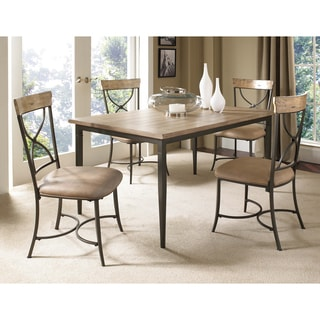 Charleston 5 Piece Counter Height Round Wood Dining Set