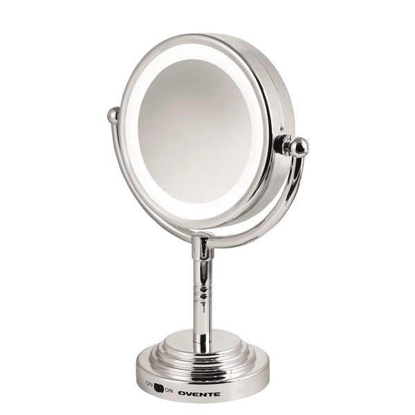 Ovente Double Sided Led Cosmetic Mirror With 1x 5x