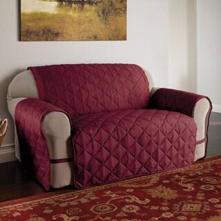 Burgundy Microfiber Ultimate Sofa Protector