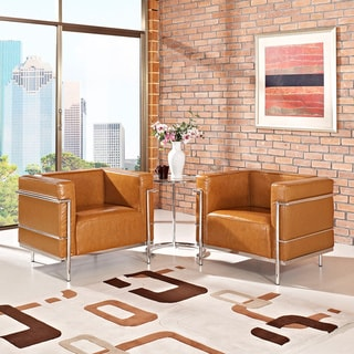 Rialto Rust Faux Leather Chair 14111991 Overstock Com