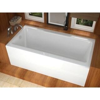 Eros White 60x32 Inch Soaker Tub 13589423 Overstock
