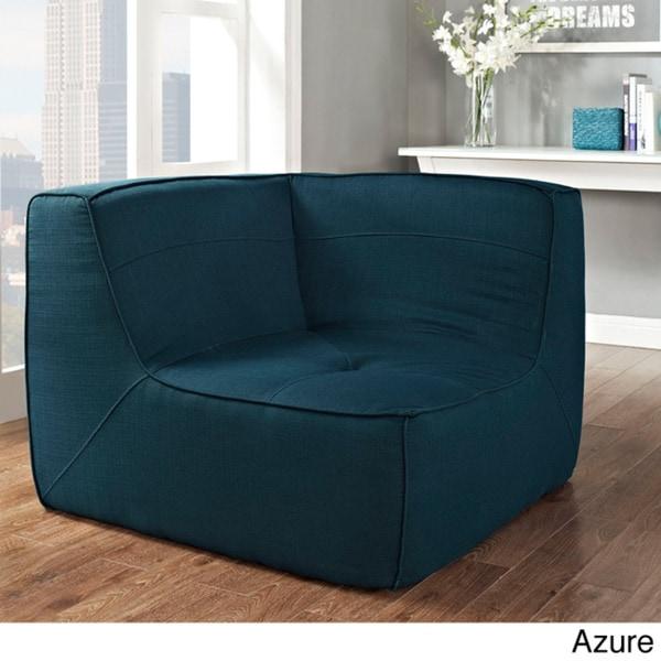 Safavieh Jack Sky Blue Corner Chair Home Decor Accent: Align Upholstered Corner Sofa