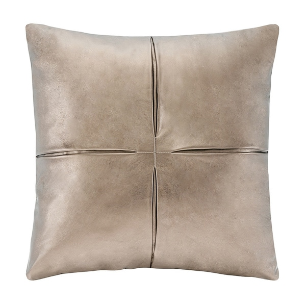 Leather Sofa For Accent Pillows: Madison Park Metallic Faux Leather Decorative Accent