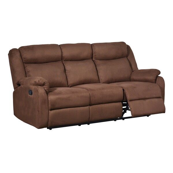 Chocolate Dual Reclining Microfiber Sofa 16146553