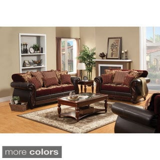 Furniture Of America Traditional Franchesca 2 Piece Fabric