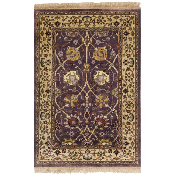 Walmart Purple Rug: Safavieh Hand-knotted Ganges River Purple/ Light Green