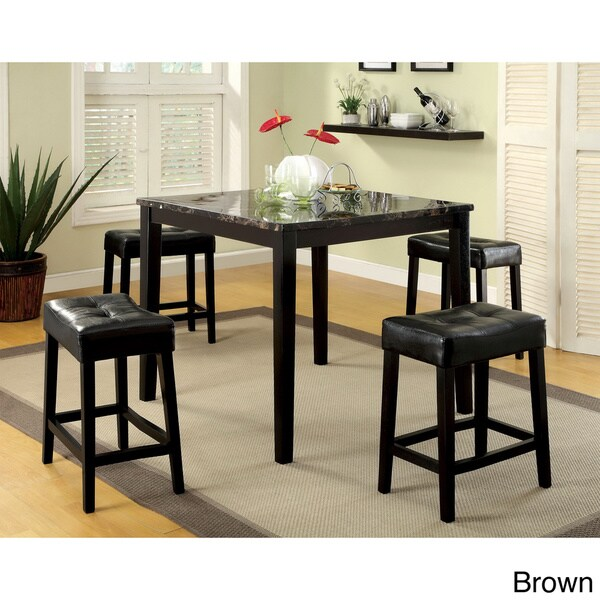 Furniture Of America Shelzy 5 Piece Faux Marble Counter