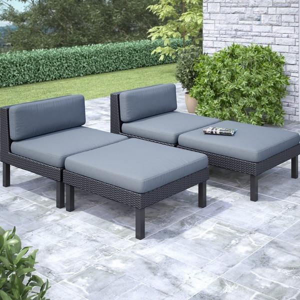 CorLiving 'Oakland' 4-piece Lounger Patio Furniture Set