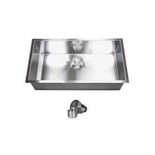 30 Inch Stainless Steel Single Bowl Undermount Zero Radius