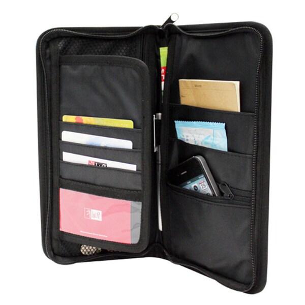 Adeco Black Multi Pocket Glove Box Organizer Storage