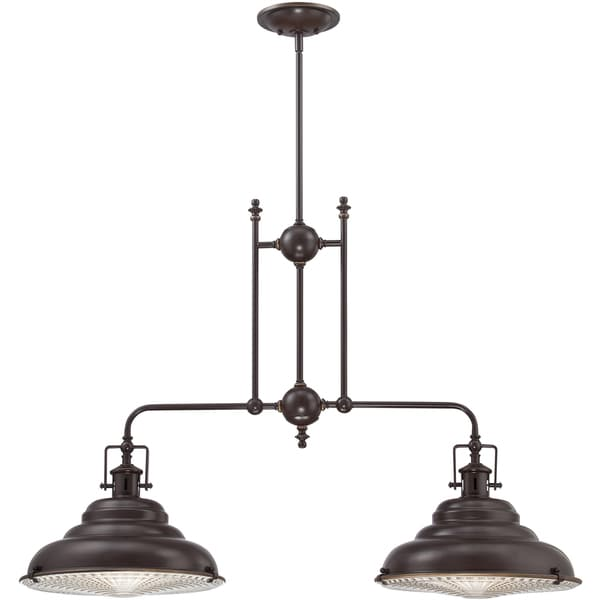 Eastvale Palladian Bronze Finish 2-light Island Chandelier
