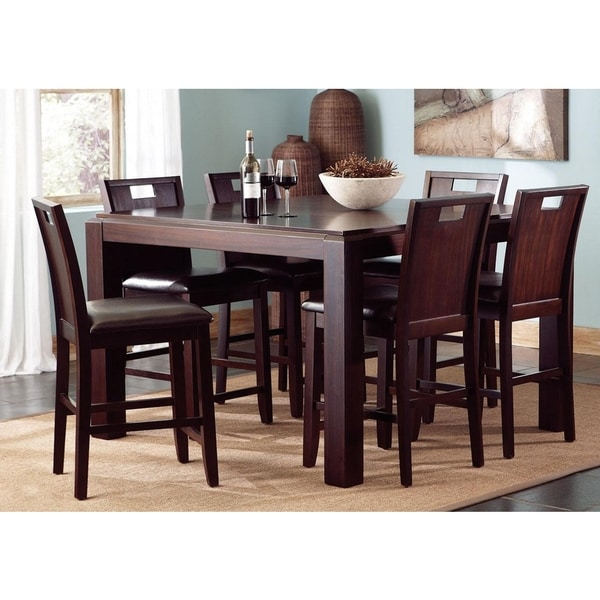 7 Piece Counter Height Dining Room Sets: Belveder Espresso Counter Height 7-piece Dining Set