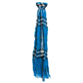 06ae5ab53221 Online Specials Burberry Bright Opal Check Cashmere and Merino Crinkled  Scarf