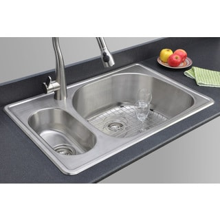 Elite Sink Square  Round Corner Kitchen Stainless Single Bowl
