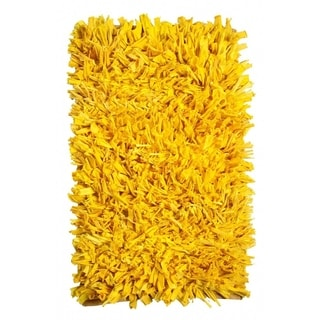 Yellow Chenille Shag Rug 4 X 6 11961734 Overstock