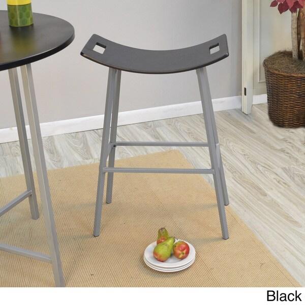 Callie Metal Wood Saddle Stool 16191453 Overstock Com
