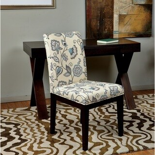 Parsons Paisley Scroll Floral Upholstered Armless Chair